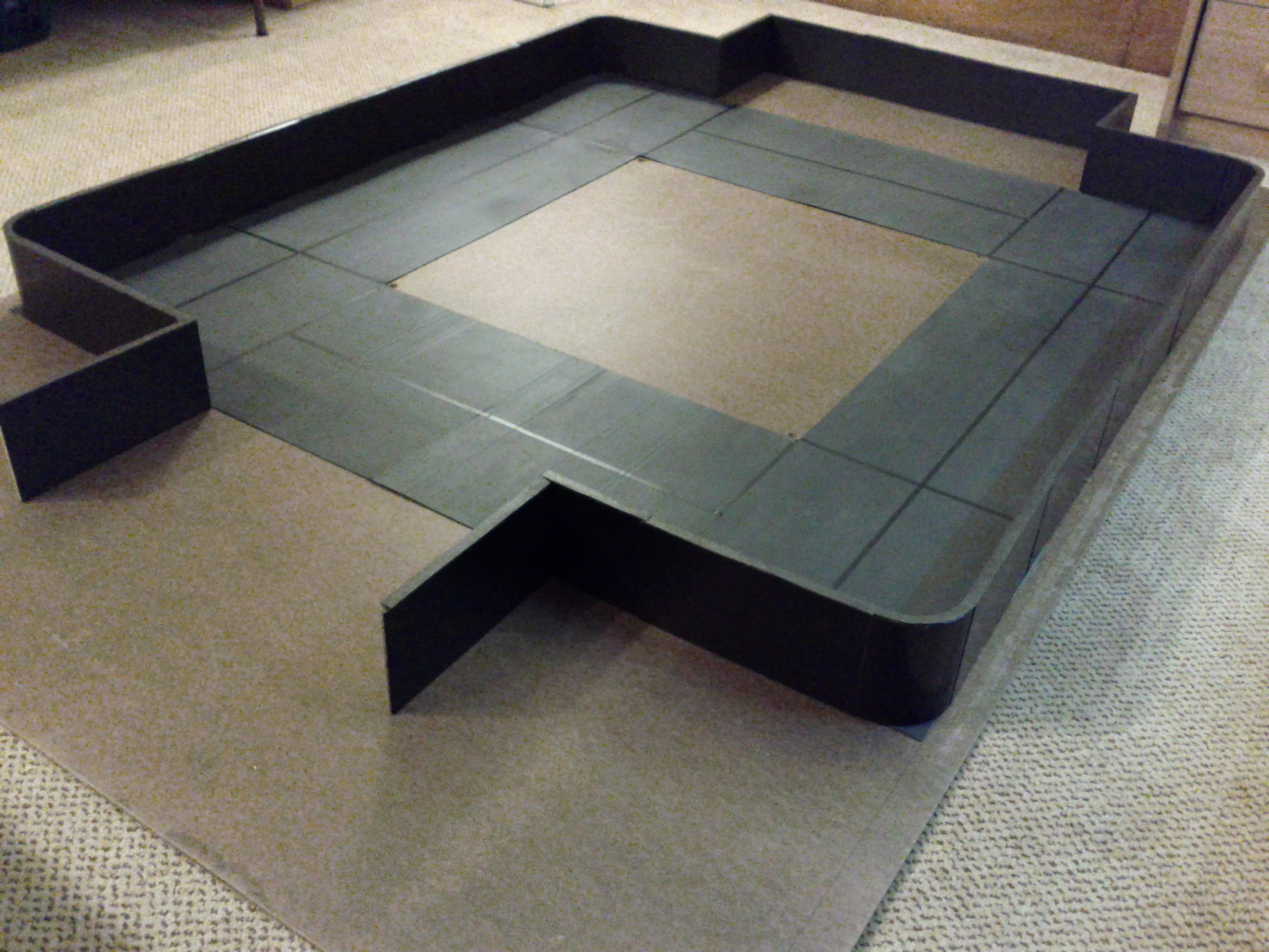 Custom Hell In The Cell Ring Mats Barricade